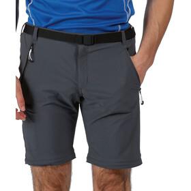 Regatta Xert III Stretch Pantalones Zip-Off Hombre, seal grey